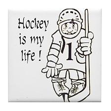 Hockey is My Life Tile Coaster