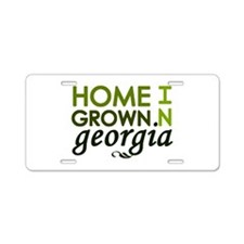 'Home Grown In Georgia' Aluminum License Plate
