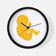 Embryo baby Wall Clock