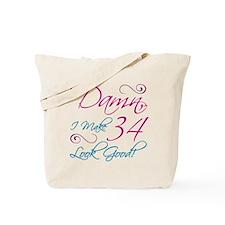 34th Birthday Humor Tote Bag