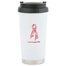 Stroke Awareness Ribbon Travel Mug