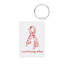 Stroke Awareness Ribbon Keychains