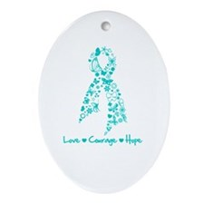 Scleroderma Butterfly Ornament (Oval)