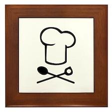 Chef cooking hat Framed Tile
