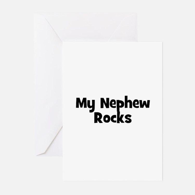 My Nephew Rocks Greeting Cards (Pk of 10)