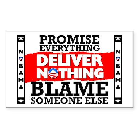 """""""Obama: Deliver Nothing"""" Sticker"""