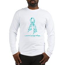 PCOS Awareness Butterfly Long Sleeve T-Shirt
