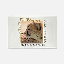 Cat Priestess Rectangle Magnet