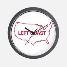 LEFT COAST Wall Clock