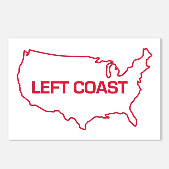 LEFT COAST Postcards (Package of 8)