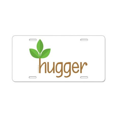 Tree Hugger Aluminum License Plate