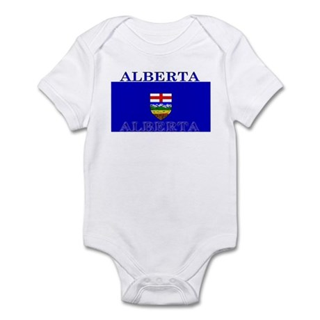 Alberta Albertan Flag Infant Creeper