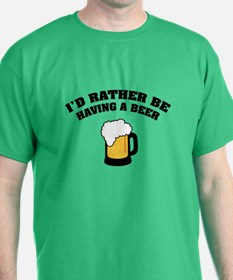 Having a Beer T-Shirt