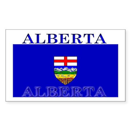 Alberta Albertan Flag Rectangle Sticker