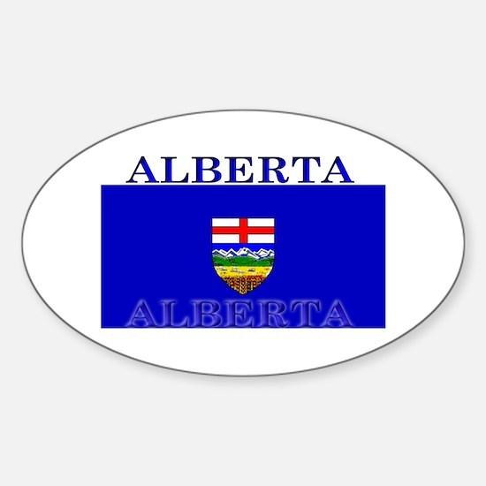 Alberta Albertan Flag Oval Decal