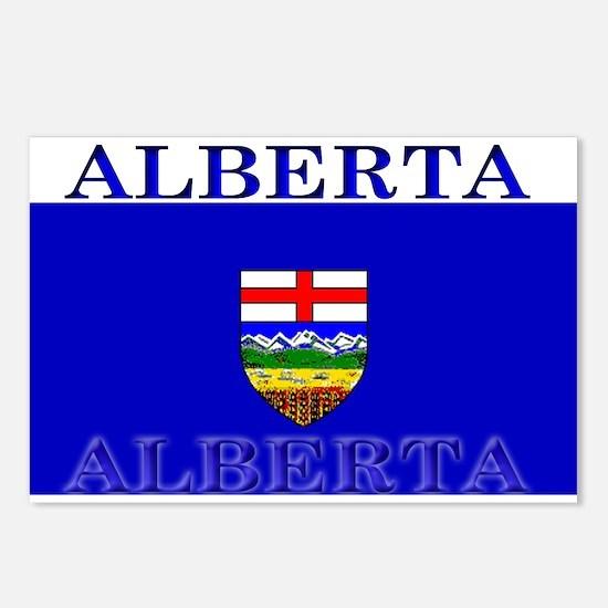 Alberta Albertan Flag Postcards (Package of 8)