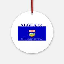 Alberta Albertan Flag Christmas Ornament