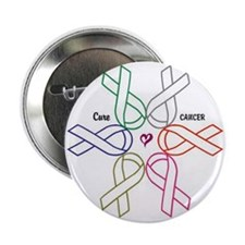 "Cancer KILLS - Awareness CURES 2.25"" Button ("