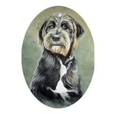 Terrier Dog Oval Ornament