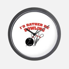 I'd rather be bowling Wall Clock