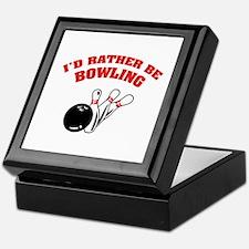 I'd rather be bowling Keepsake Box