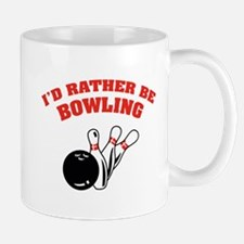 I'd rather be bowling Small Small Mug