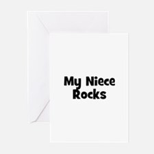 My Niece Rocks Greeting Cards (Pk of 10)