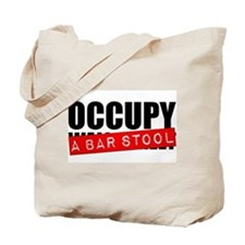Occupy A Bar Stool Tote Bag