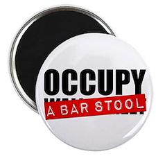 Occupy A Bar Stool Magnet