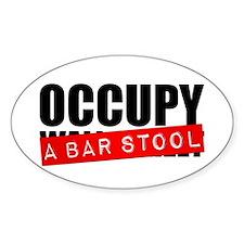 Occupy A Bar Stool Oval Decal