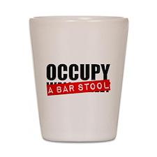 Occupy A Bar Stool Shot Glass