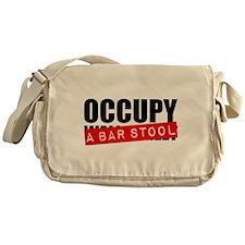 Occupy A Bar Stool Canvas Messenger Bag