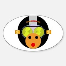 Ruckus Monkey Oval Decal