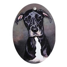 Great Dane Dog Oval Ornament