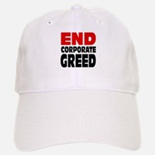 End Corporate Greed: Baseball Baseball Cap