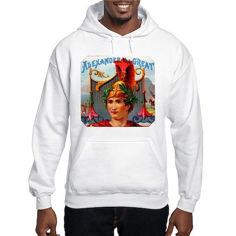 Alexander the Great Cigar Label Hooded Sweatshirt