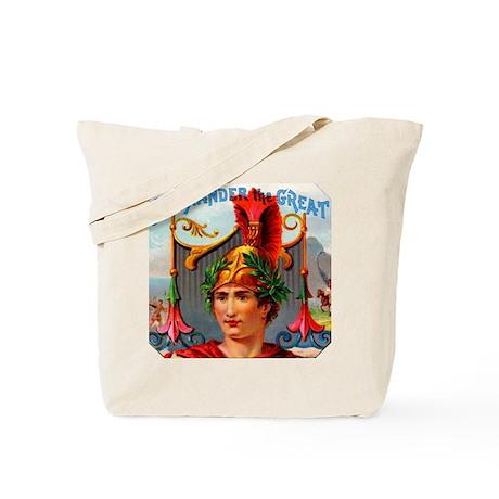 Alexander the Great Cigar Label Tote Bag