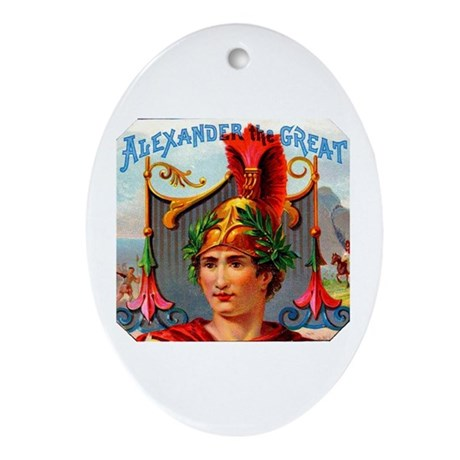 Alexander the Great Cigar Label Ornament (Oval)