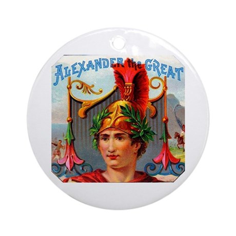 Alexander the Great Cigar Label Ornament (Round)