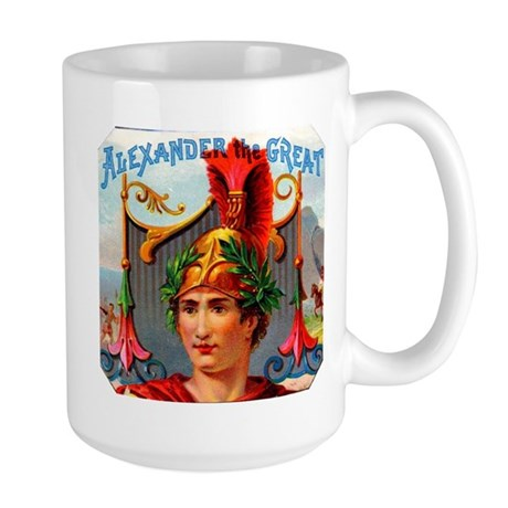 Alexander the Great Cigar Label Large Mug