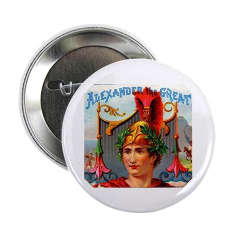 """Alexander the Great Cigar Label 2.25"""" Button (100"""