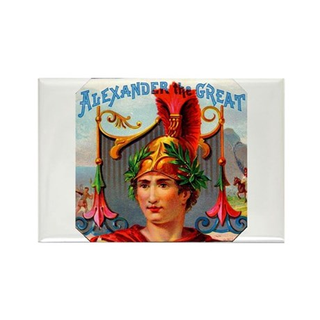 Alexander the Great Cigar Label Rectangle Magnet (