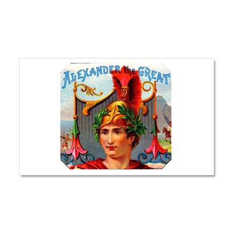 Alexander the Great Cigar Label Car Magnet 20 x 12
