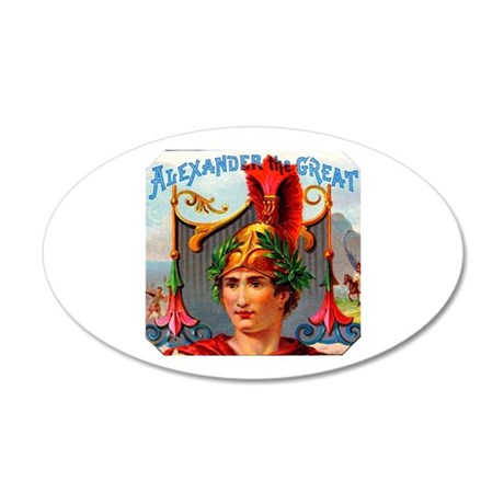 Alexander the Great Cigar Label 38.5 x 24.5 Oval W