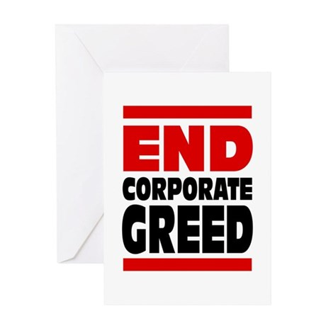End Corporate Greed: Greeting Card