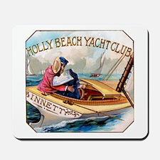 Yacht Club Cigar Label Mousepad