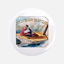"""Yacht Club Cigar Label 3.5"""" Button"""