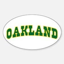 OAKLAND Oval Decal