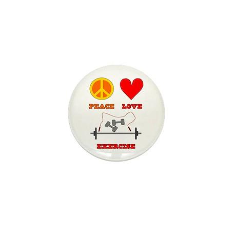 Peace Love Exercise Mini Button
