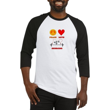 Peace Love Exercise Baseball Jersey
